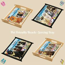 Pet Friendly Beach Food Serving Tray, Dogs, Cats, Pet Photo Lovers Gift Kitchen