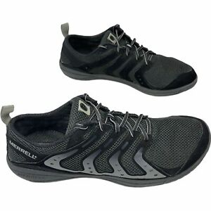 Merrell Mens Bare Access J39733 Gray Lace Up Barefoot Hiking Trail Shoes Size 12
