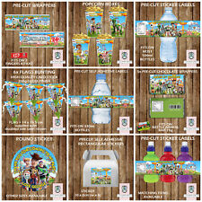 PERSONALISED TOY STORY PARTY ITEMS FRUIT SHOOT LABELS KITKAT WRAPPERS STICKERS