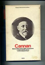 Cannan#STORIA DELLE TEORIE DELLA PRODUZIONE E DELLA DISTRIBUZIONE#ISEDI 1975#1A
