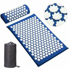 Yoga Massage Mats Lotus Acupressure Spike Eco Applicator Cushion Pillow Sets