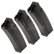 Airsoft Gear CYMA 3pcs 65rd Short Mag Mid-Cap Magazine For AEG MP5-Series Black
