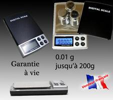 Balance électronique de précision 0.01gr à 200gr Pèse de Poche Scale 0,01 0,01g