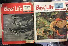 2 Boy's Life Magazines May 1951 & May 1952 Gene Klebe Cover