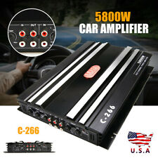 5800W Car 4 Channel Power Amplifier Stereo Audio Super Bass Subwoofer Amp Hot