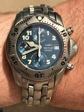 SECTOR 950 SUB DIVER 300M TITANIUM CHRONOGRAPH AUTOMATIC ETA7750 MENS 40mm SWISS