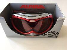 Alpina Skibrille Snowboard Ski Brille Tycon Rot Schwarz Silber Anthrazit