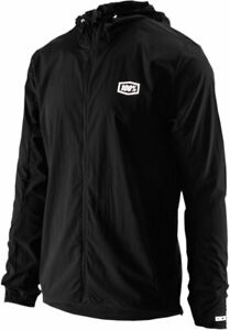 100% MX Motocross AERO TECH Windbreaker Jacket (Black) M (Medium)