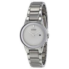 Citizen Axiom Silver Dial Stainless Steel Quartz Ladies Watch GA1050-51A