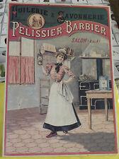 Ancien Carton Publicitaire Huilerie & Savonnerie PÉLISSIER - BARBIER Vintage
