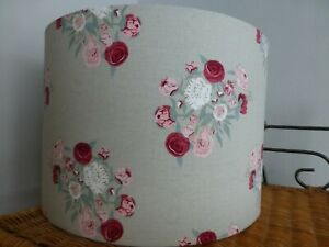 Peony on Grey ~ Sophie Allport Fabric Table Lampshade ~ 30cm Diameter