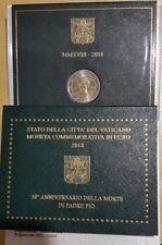 2 EURO VATICAN 2018  50° ANNIVERSAIRE  MORT DE PADRE PIO  BU  COFFRET OFFICIEL