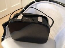 Large black patent 1960s overnight case beauty case Great condition!