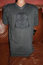 New Men's Star Wars Limited Ecko Darth Vader Silver Nailhead V Neck TShirt Small