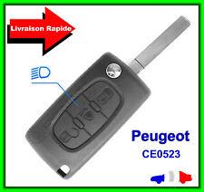 Coque Télécommande Plip Clé Peugeot 3 Bouton Phare 107 308 807 5008 CE0523