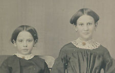 ANTIQUE DAGUERREOTYPE AMERICAN BEAUTY YOUNG GIRLS ANGELS HAND HOLD LOVE PHOTO