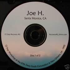Alcoholics Anonymous 2 CDs AA 12 Step Workshop Joe Hawk