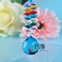 Window Rainbow Suncatcher Blue Crystal Ball Prism Feng Shui Wedding Home Decor