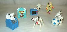 101 Dalmatians Figures x6 Mail Box Soccer Ball Chef Cruella De Vil