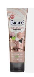 Biore Rose Quartz Charcoal Gentle Pore Refining Face Scrub