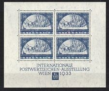Österreich 1933 WIPA Block 1 als wunderschöner Lückenfüller