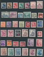 Lot Stamp Germany Bohemia WWII War Era Hitler Red Cross Newspaper Praque U