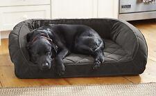 "Orvis Deep Dish Dog Bed Memory Foam Cozy Nest Slate Medium 40"" x 26½"" NWOT New"