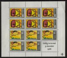 Netherland neuf sans charnière 1966 SG MS1006 minisheet de bien-être des enfants