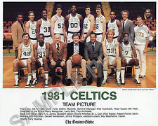1981 BOSTON CELTICS TEAM GLOSSY 8X10 PHOTO HOF