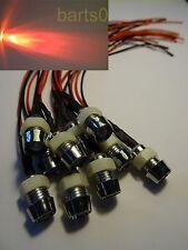 3X 5mm rot  LEDs LED 100mA 90° Chromfassung 12V LEDSCHRAUBE SCHRAUBE SEHR HELL