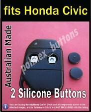 fits Honda Civic Rover 600 820 VITESSE remote FOB - 2 Repair key BUTTONS (1set)