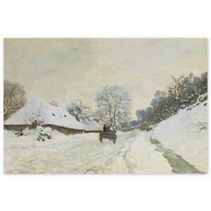 Claude Monet, Wagen auf verschneiter Strasse in Honfleur, Poster Strasse