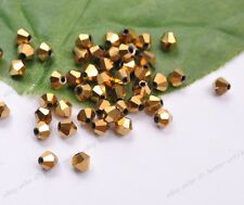 Bicone Faceted Rondelle Glass Crystal Charms Loose Spacer Jewelry Beads