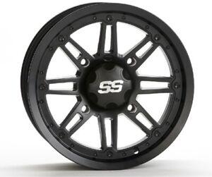 ITP SS216 Alloy Wheel Matte Black 14X7 4/110 2 5 1428541536B Rear 37-3741 263233