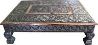 "20"" x 15"" Indian Bajot Bajoth Puja Chowki Table Low Table Camping Table"