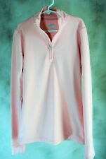 NIKE Fit Dry Pink Cold Gear 1/4 Zip long sleeve Athletic Top  S 4 6