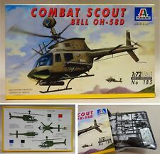"Scatola Kit Montaggio ""ITALERI - Elicottero COMBAT SCOUT - BELL OH 58D - 1:72"""