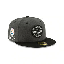Pittsburgh Steelers NFL On-Field New Era 59FIFTY Established Fitted Hat-Gray