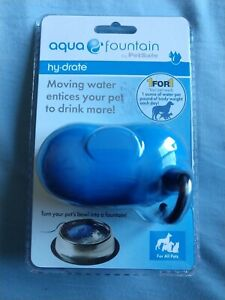 Aqua Fountain Hy-Drate By PetSafe Dogs And Cats Filters Water Bowl Quiet Sealed