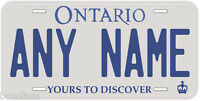 Ontario Canada Any Name Number Novelty Car Auto License Plate