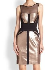 New without tag $568 BCBG Max Azria Reina Fitted Sleeveless B1081 Dress  Sz 4