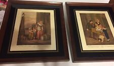 PAIR OF FRAMED FRANCIS WHEATLEY  ENGRAVED PRINTS - PLATES 2 AND 12- CRIES OF LON