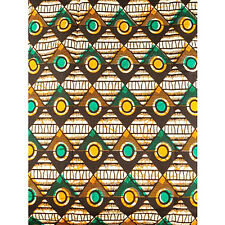 African Diamond Dots Print Fabric BY 1/2 YARD Ankara kitenge fancy wax p1298