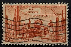 US 1953 Scott #1028 Gadsden Purchase 3 Cents STAMP