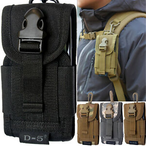 Universal Army Tactical Molle Belt Loop Hook Pouch for Mobile Phones 137x70mm
