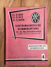 alter Katalog Nähmaschine Bestandsteileliste Betriebsanleitung Csepeler Budapest