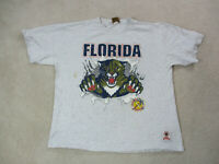 VINTAGE Florida Panthers Shirt Adult Extra Large Gray NHL Hockey Mens 90s *