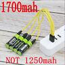 2550mwh ZNTER 1.5V AA 1700mAh li-polymer  USB rechargeable lithiu  battery