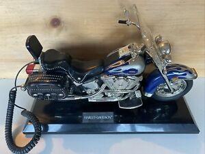 Harley-Davidson Telemania Heritage Softail Landline Telephone Phone Blue Flames