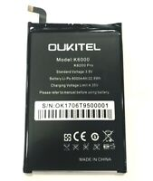 Original Oukitel K6000 6000mAh Battery For Oukitel K6000 Pro Cellphone Warranty